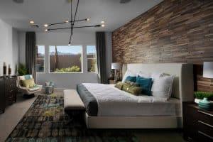 Home Builder Model Home Master Bedroom Interior