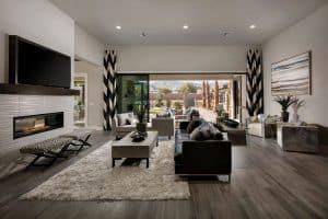 Home Builder Model Home Living Room Interior