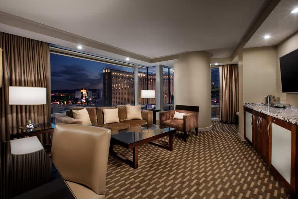 Aria Hotel and Casino Suite Living Room