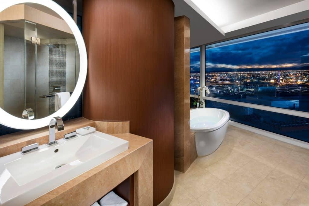 Aria Hotel and Casino Suite Master Bath