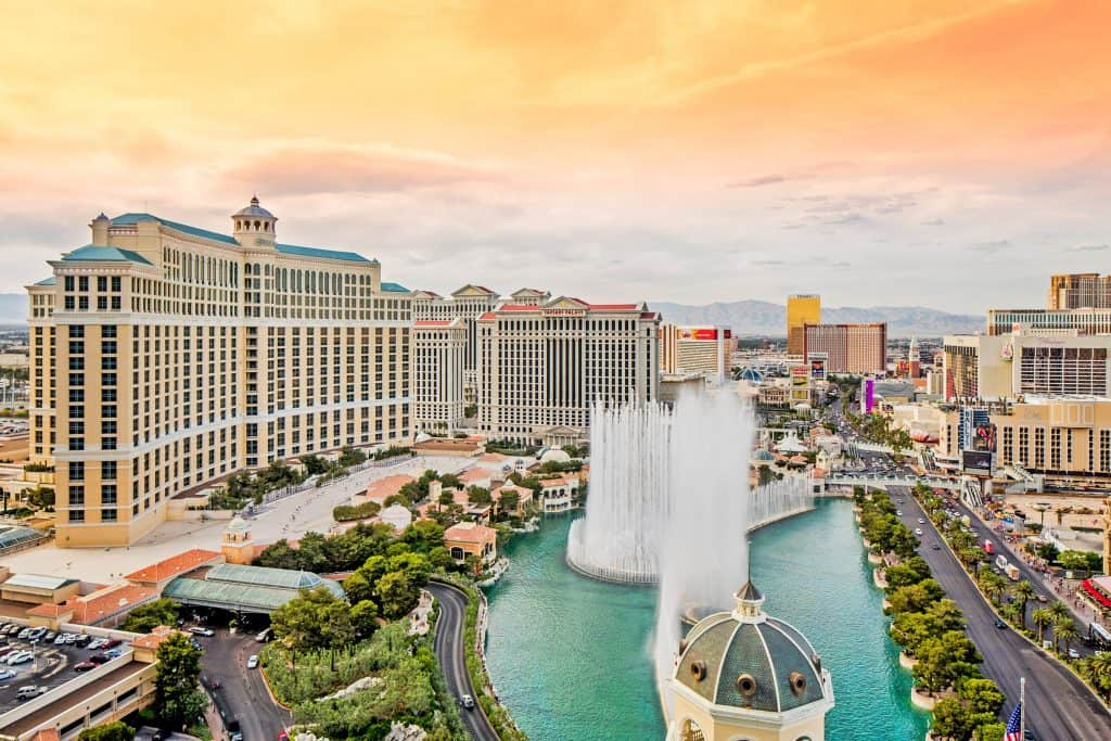 Bellagio Hotel and Casino Fountains in Las Vegas