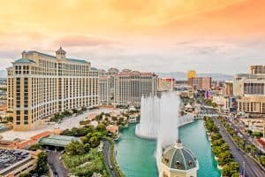 Bellagio Hotel and Casino Fountains in Las Vegas