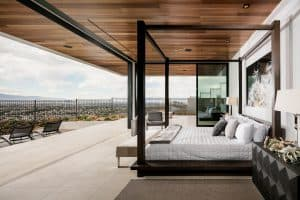 Spacious Modern Master Bedroom with a Stunning View