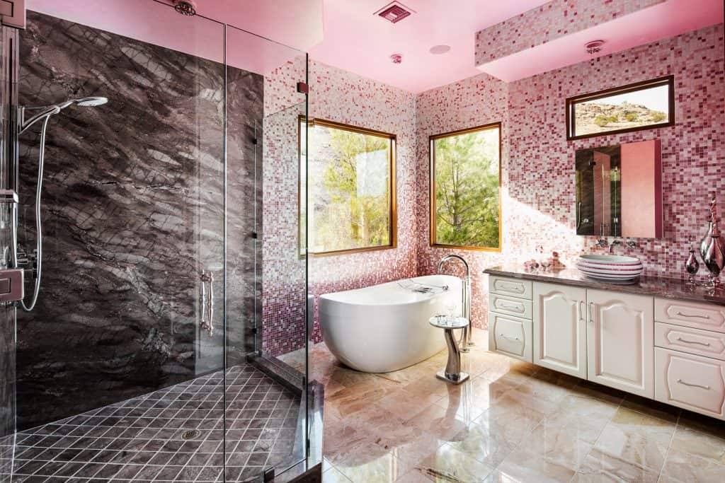 New York Unique Pink Luxury Bathroom
