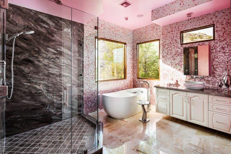 New York Unique Pink Luxury Bathroom