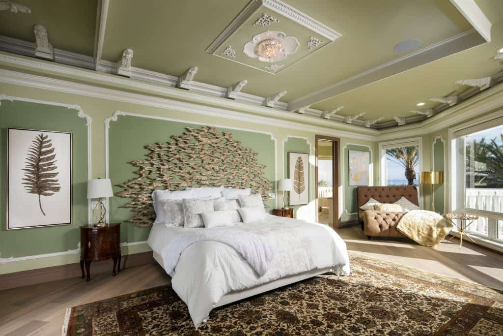 Traditional Luxury Green Bedroom