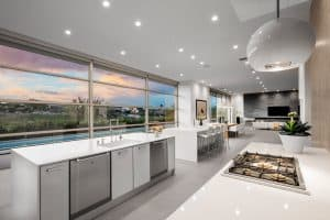 Double Island White Luxury Kitchen