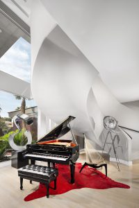 Steinway & Sons Piano in an Ultra Modern Entryway