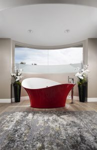 Luxury Red Modern Bathroom